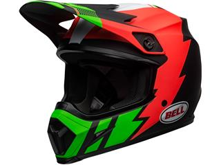 BELL MX-9 Mips Helmet Strike Matte Infrared/Green/Black Size XS