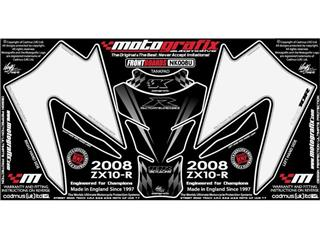 MOTOGRAFIX Front Fairing Numberboard White Kawasaki ZX10R Ninja