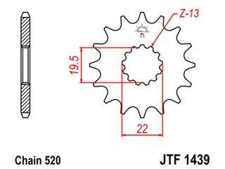 Pignon JT SPROCKETS 11 dents acier pas 520 type 1439 Suzuki - 46143911