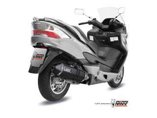 MIVV SPEED EDGE Steel Black Full Exhaust System Suzuki Burgman 400