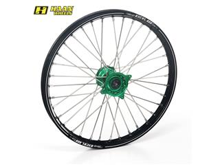HAAN WHEELS A60 Complete Front Wheel 21x1,60x36T Black Rim/Green Hub/Silver Spokes/Silver Spoke Nuts