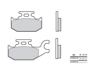 Plaquettes de frein BREMBO 07GR49SX métal fritté - 38800049
