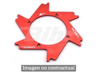 Parte central de disco Aeronal® Izquierda plana. Color VERDE. (HD4LGGR)