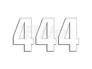 Numeros de carrera blanco - Pack de 3 uds Blackbird PVC 5048/10/4 - 39022