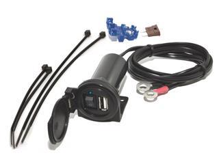 Cargador USB Baas USB6 5V-12V IPX3, cable 1,5m con fusor e interruptor - 20446