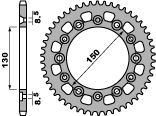 Couronne PBR 42 dents acier standard pas 520 type 4308 - 476430842