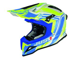 JUST1 J12 Helmet Flame Yellow/Blue Size L