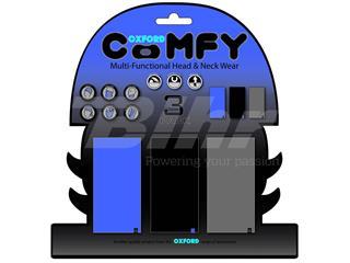 Braga cubre cuello confortable azul, negro y gris, Pack de 3. Oxford NW114