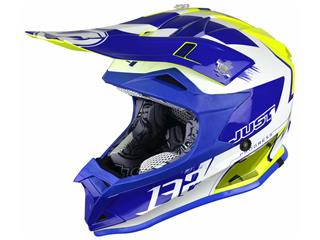 Casque JUST1 J32 Pro Kick White/Blue/Yellow Gloss taille S