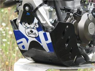 AXP GP HDPE Skid Plate Black/Blue Sticker Yamaha YZ250F