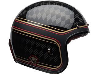 Capacete Bell Custom 500 Carbon RSD CHECKmate Preta/Dourada, Tamanho XL - 800000064671
