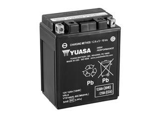 Batterie YUASA YTX14AHL-BS sans entretien livrée avec pack acide - 32YTX14AHLBS