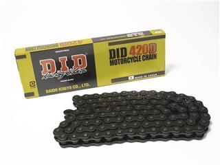Chaîne de transmission D.I.D 420 D noir/noir 122 maillons