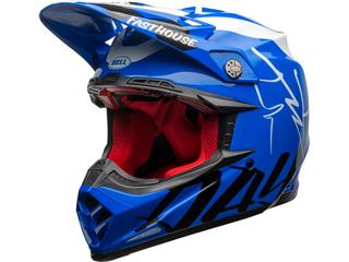 Casque BELL Moto-9 Flex Fasthouse DID 20 Gloss Blue/White taille XL