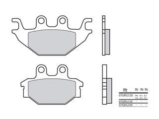 Plaquettes de frein BREMBO 07GR52SX métal fritté Kymco KXR 250 - 38800036