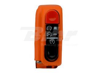 Botão on/off com arranque 9A Domino laranja 0406AB.9A