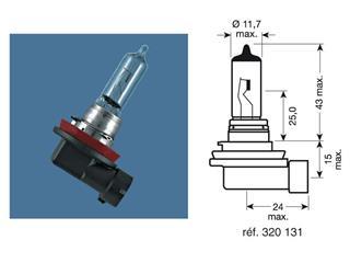 BOITE 10 AMPOULES 12V-35W / PROJECTEURS CULOT PGJ19-1 - 320131