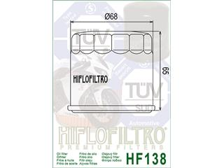 HIFLOFILTRO HF138 Oil Filter Gsxr600/750/1100Vx800 - 5bc4b3ec-c13b-442a-83d9-58e73574e1f6