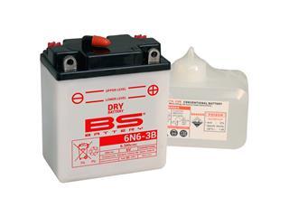 Batterie BS BATTERY 6N6-3B  conventionnelle livrée avec pack acide - 321864