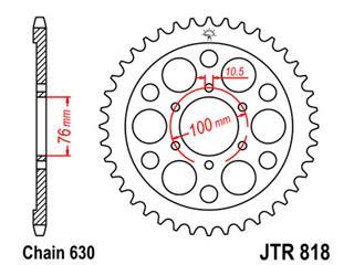 JT SPROCKETS Rear Sprocket 42 Teeth Steel Standard 630 Pitch Type 818