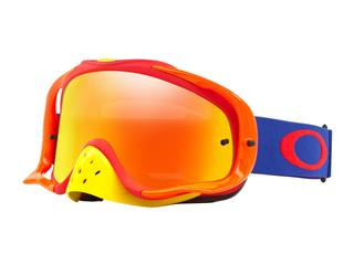 Masque OAKLEY Crowbar MX Flo Blue/Red écran Fire Iridium