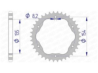 AFAM Rear Sprocket 41 Teeth Aluminium Ultra-Light Hard Anodized 525 Pitch Type 51803