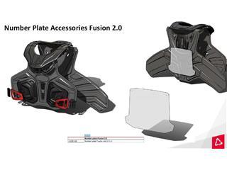 Numberplatta LEATT Fusion Vest  Size 2.0 Junior