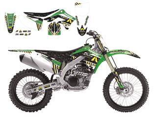 Kit deco complet Blackbird replica Arma Energy Kawasaki KX-F450 - 78101914