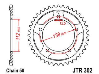 Couronne JT SPROCKETS 39 dents acier standard pas 530 type 302