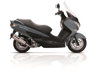 YASUNI Scooter 4 Muffler Stainless Steel Titanium Look/Black End Cap Suzuki Burgman UH125