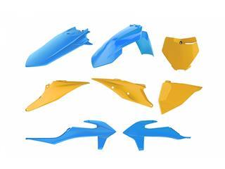 Kit plastique POLISPORT MX Vintage Edition bleu/jaune KTM SX/SX-F - 4420013298