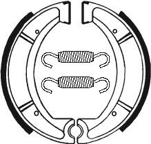 Machoires de frein TECNIUM BA037 organique