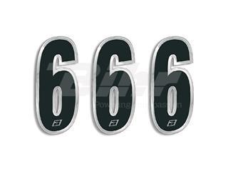 Numeros de carrera negro Blackbird 15X7 Cm - Pack 3 uds 5069/20/6