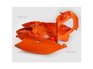 Plaques latérales + cache boîte à air UFO orange KTM - 78527453