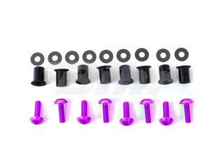 Kit parafusaria viseira alumínio Pro-Bolt violeta SK10P - 54793