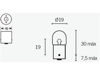 Boite de 10 ampoules V PARTS R5 12V-5W - 320088