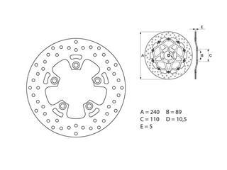 Disque de frein BREMBO Oro rond fixe - 35700084