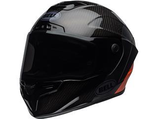 BELL Race Star Flex DLX Helmet Carbon Lux Matte/Gloss Black/Orange Size L - 800000020670