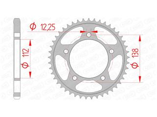 AFAM Rear Sprocket 38 Teeth Steel Standard 525 Pitch Type 10613