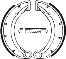Machoires de frein TECNIUM BA172 organique