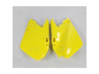 Plaques latérales UFO jaune Suzuki RM125/250 - 78328264