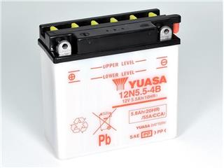 Batterie YUASA 12N5.5-4B conventionnelle - 3212N554B
