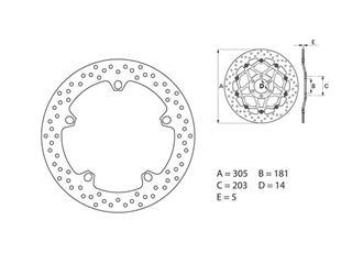 Disque de frein BREMBO Oro rond fixe - 35700034