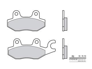 Plaquettes de frein BREMBO 07HO4008 organique - 38800199