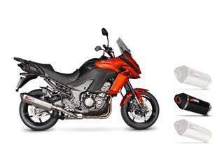 Silencieux SCORPION Serket Parallel carbone /casquette ABS noir Kawasaki Versys 1000