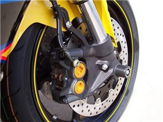 Protection de fourche R&G RACING noir Yamaha YZF-R1/R6 / T-Max 530