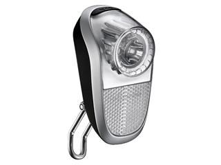 FRONT LIGHT CAVO 1 LED.HUB DYNAMO SILVER/BLACK