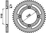 Couronne PBR 46 dents acier standard pas 428 type 4486