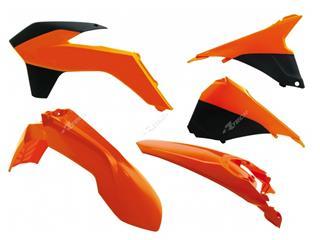 RACETECH Plastic Kit OEM Colour (2014) Orange/Black KTM EXC/EXC-F 125 AND +