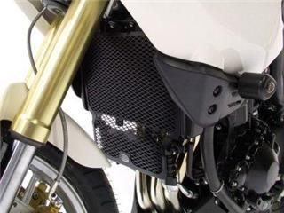 R&G RACING (Oil & Water) Radiator Guard Black Triumph Tiger 1050/Sport